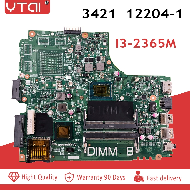 CN 0MRWW4 MRWW4 REV A00 FOR DELL INSPIRON 3421 5421 laptop motherboard I3 2365M mainboard 12204