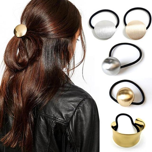 5fe44d1f876d 48.4 руб. 35% СКИДКА|LNRRABC Женская металлическая эластичная резинка для  волос ...