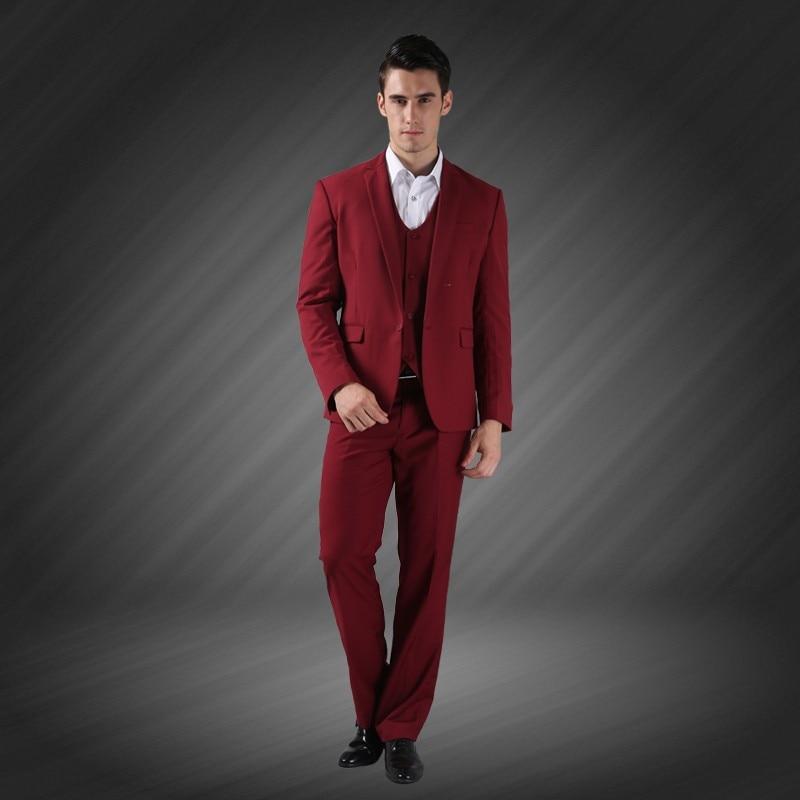 (Jope + vest + püksid) meeste äri ühe rinnaga peidetud peigmees - Meeste riided - Foto 5