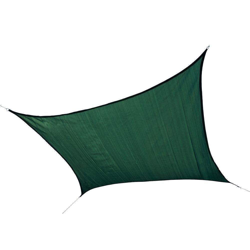 ShelterLogic 25726 12 ft. - 3 7 m Square Shade Sail - Evergreen 230 gsm тент shelterlogic gardendreams 80240