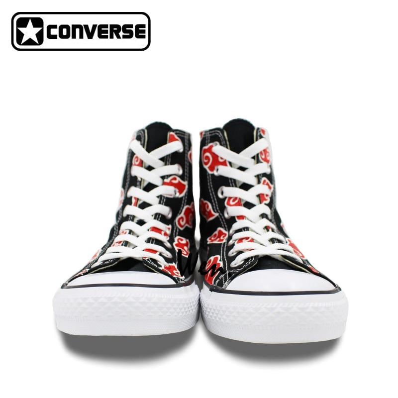 c2d1d30cbf33 Akatsuki Hand-Painted Converse Sneakers