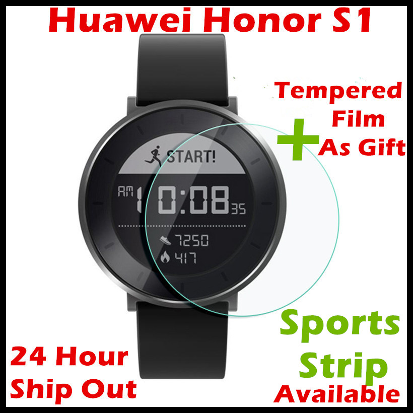 все цены на (Best Offer) Original Huawei Fit Honor S1 Smart Watch 5ATM Swim Heart Rate Long Battery Life Alarm Smart Wristband Round Screen онлайн