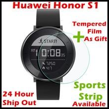 (Лучшее предложение) Оригинальный Huawei Fit Honor S1 Смарт-часы 5ATM плавать сердечного ритма длинные Срок службы батареи сигнализации смарт-браслет Круглый Экран
