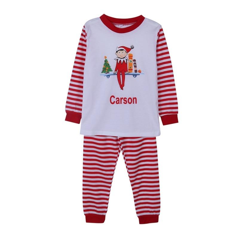 Monag Toddler Striped Christmas PJ Set
