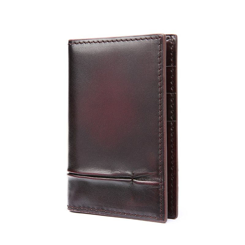 TERSE High quality handmade genuine leather card holder font b men b font business luxury engraving