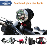 Powerful Bike Light Headlamp CREE XML T6 Bicycle Front Light Led Headlight Charging Torch Head Lamp