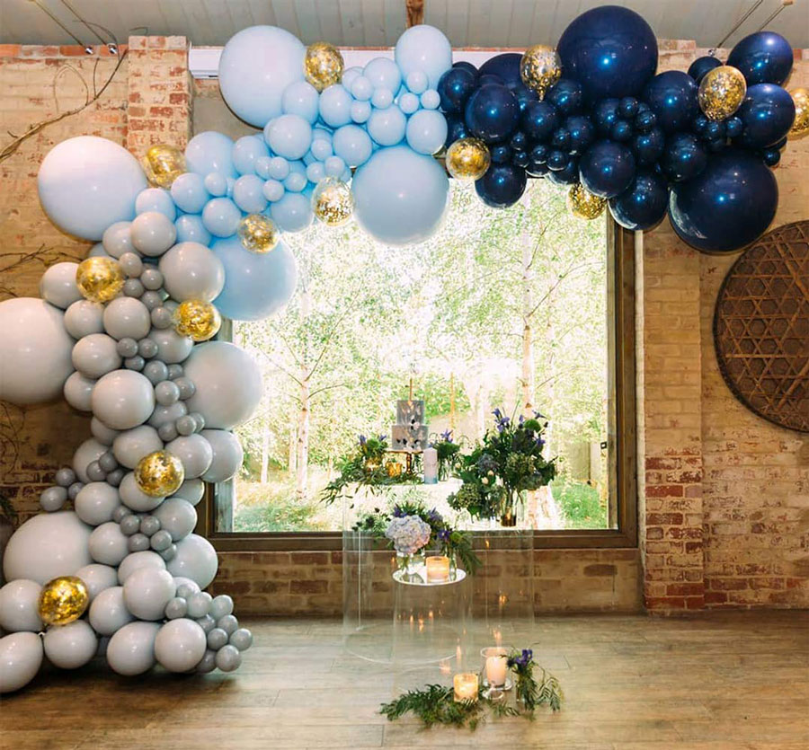 METABLE 100 pcs matte navy blue White Confetti Balloons for Parties Wedding Birthday Balloons Decorations Baby Shower in Ballons Accessories from Home Garden