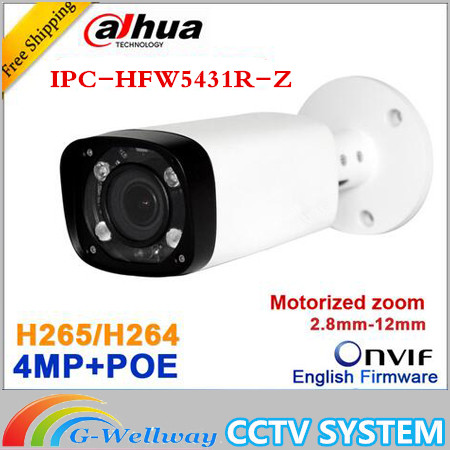 Original Dahua H.265 IPC-HFW45431R-Z replace IPC-HFW4431R-Z2.8-12mm Varifocal Motorized Lens Network 4MP IR 80M IP camera POE