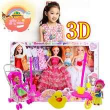 1pcs 3D eye makeup confused doll sets cute barbie dolls gifts wedding dress  toys for girl doll reborn toys for reborn babies