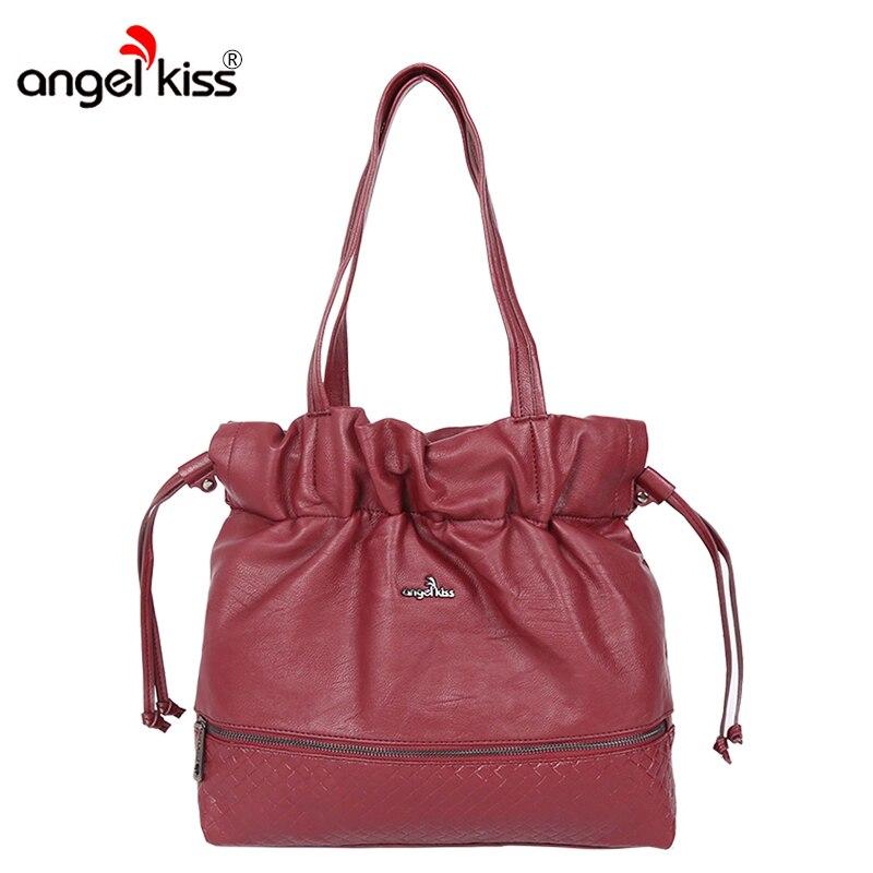 AngelKiss marque femmes sacs à main nouvelle mode Hobos sacs haute qualité fourre-tout pour femmes remorquage corde Style sacs à bandoulière