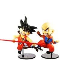 2 unids Japanese Anime Dragon Ball Z DBZ Krilin Klilyn en Amarillo 17 cm/6.7