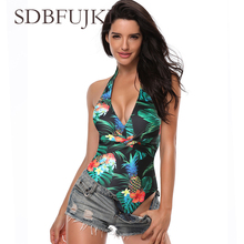 Bikini 2019 Mej Sexy Zwart Een Stuk Suits Nieuw Push-Up Padded Braziliaanse Badpak Een Stuk Bodysuits Strand Mono Baden Badmode bang herman stuk