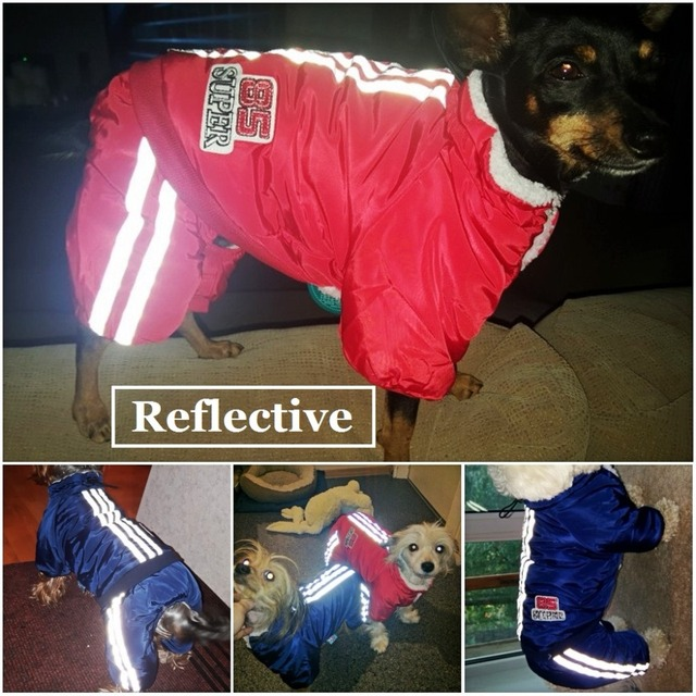 Warm Winter Pet Dog Coat clothes Thick dog Jumpsuits Overalls for Dogs Small Dog Clothes Warm Pet Outfit Clothing 4