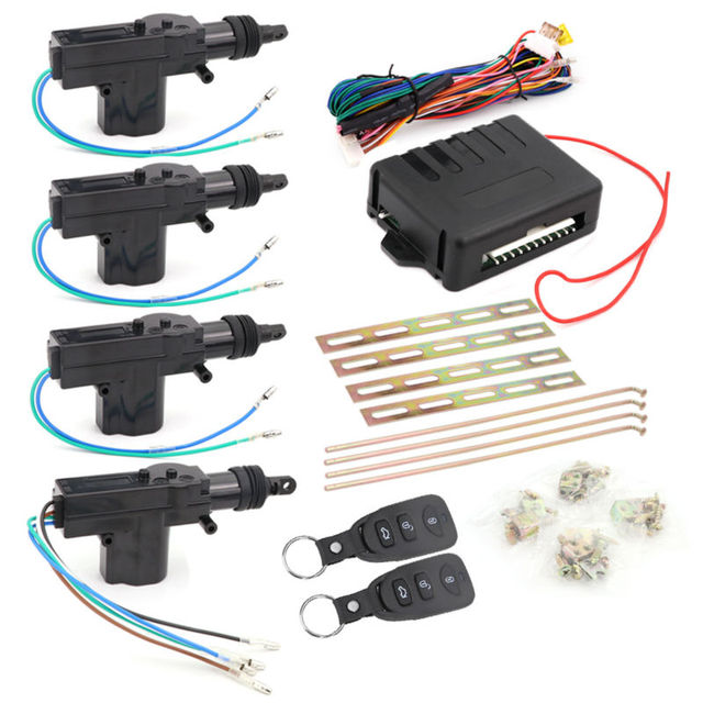 BREAKiX Power Locks Car Central Locking With Remote Control 4 Door Actuator For Alarm System Kit Keyless Entry Security New DIY
