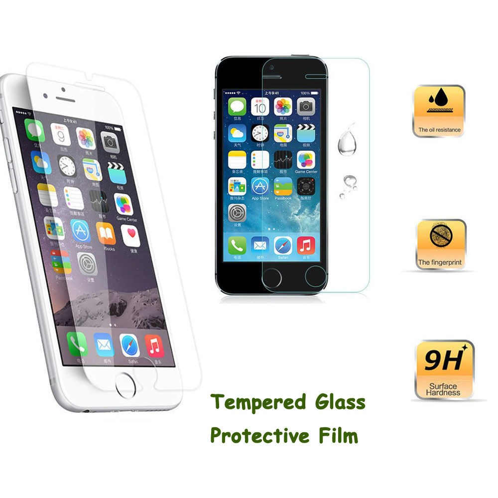 New-Premium-Real-Tempered-Glass-Film-Screen-Protector-For-iphone-4-4S-5-5S-6-6S