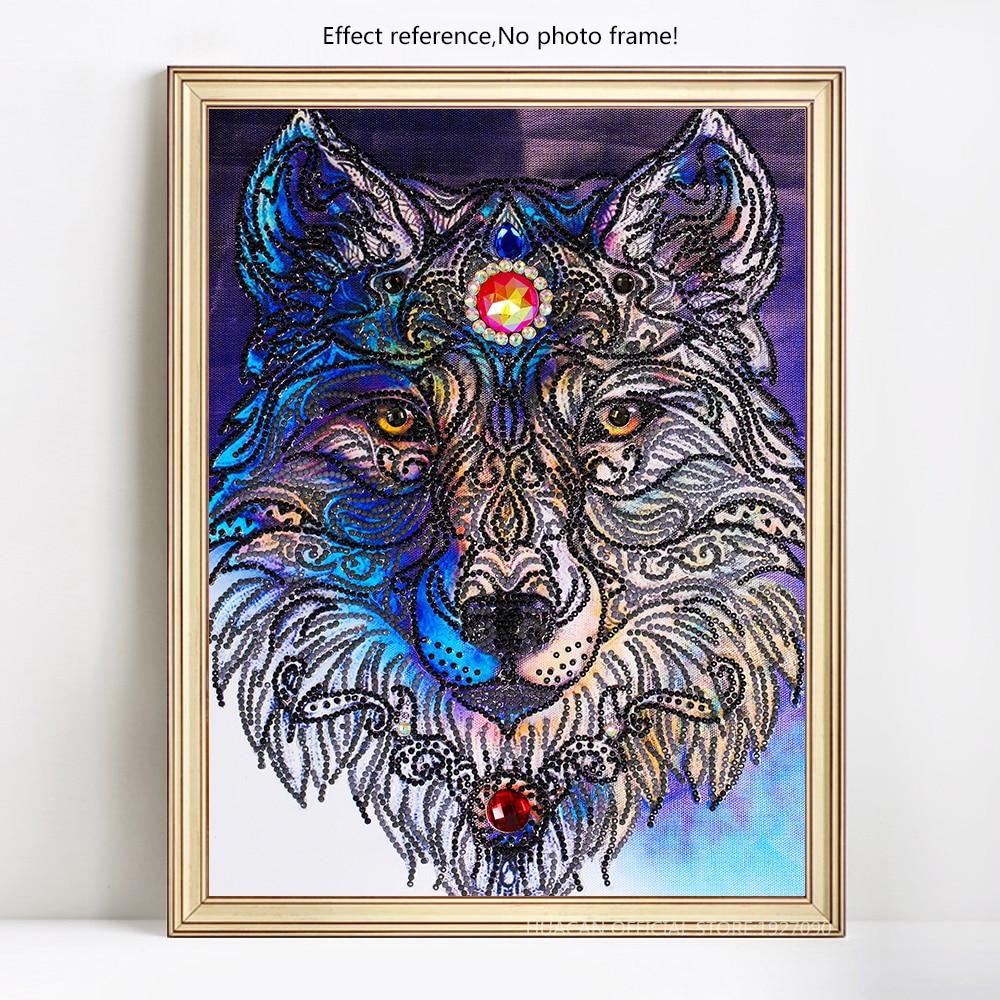 Azqsd special shaped diamond embroidery animal wolf mosaic picture azqsd special shaped diamond embroidery animal wolf mosaic picture of rhinestones diy diamond painting cross stitch home decor in diamond painting cross jeuxipadfo Images