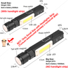 10000LM LED Flashlight Ultra Bright Waterproof COB Light USB Rechargeable torch tail magnet Work Light Rotate Built-in battery discount