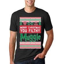 c8ae527f5 Merry Christmas You Filthy Muggle Funny Ugly Christmas T Shirt Potter Fan  Tee