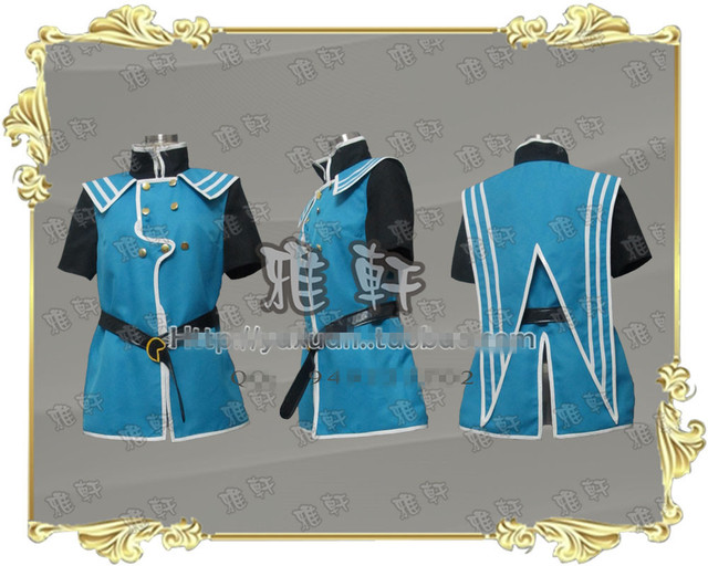 Anime Tales of the Abyss cosplay costume Tales of the Abyss Jade Curtiss Full Set Any Size NEW