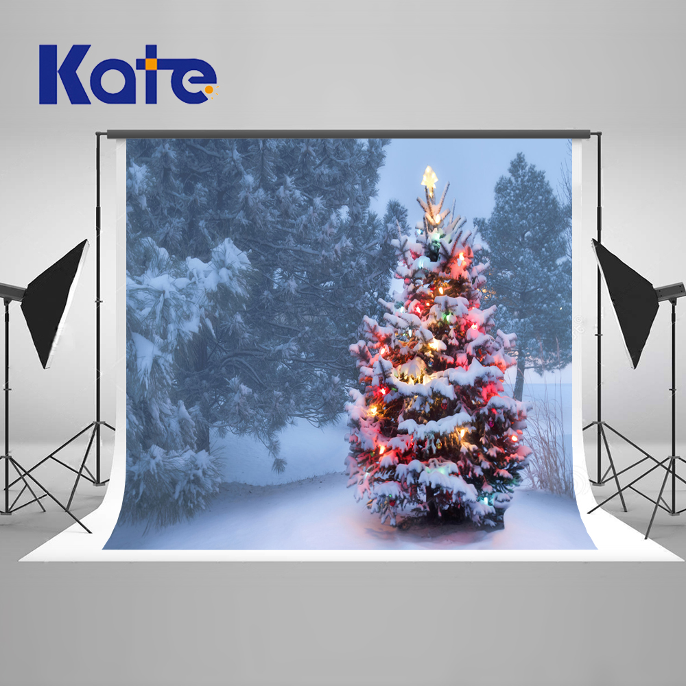 Kate Winter Snow Photography Backdrops Christmas Tree Cartoon Forest Background For Children Photo Studio Microfiber Background  kate photography backdrop winter snow tree castle scenery photography background lighting spot dream backdrops studio