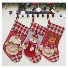 Christmas sock gift bag tree decoration childrens candy items sale 3