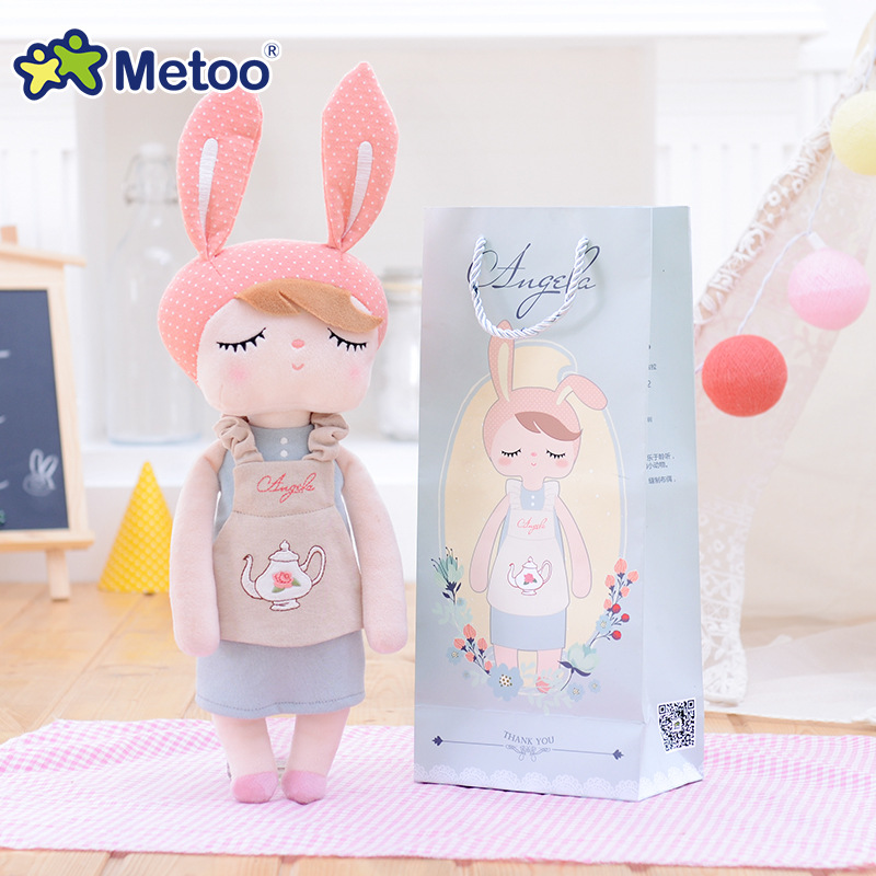 13 Inch Accompany Sleep Retro Angela Rabbit Plush Stuffed Animal Kids Toys for Girls Children Birthday Christmas Gift Metoo Doll mini kawaii plush stuffed animal cartoon kids toys for girls children baby birthday christmas gift angela rabbit metoo doll