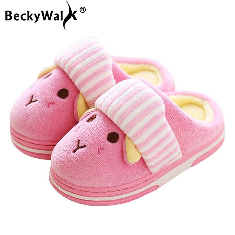 Children/'s Girls Boys Home Bathroom Slippers Kids Slip-On Flip Flop Loafer Shoes