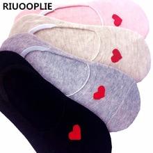 RIUOOPLIE 5 Pairs Summer Slipper Socks Ladies Cute Invisible Boat Sock Girls Fashion Low Sock