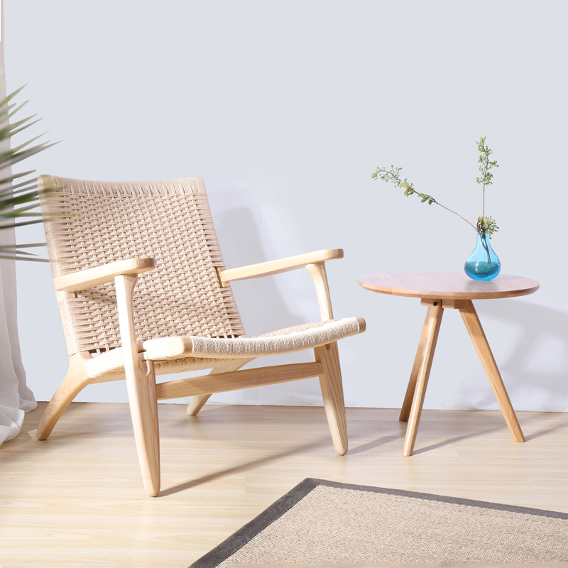 Classic Home Furniture Living Room Lounge Arm Chairs Ash Solid Wooden Leisure Chair Paper Code Modern Design Loft Cafe
