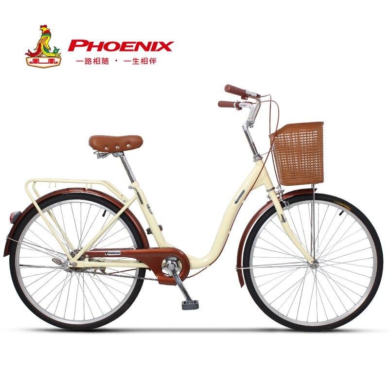 Phoenix 20''24''26'' Mulheres Bicicleta Adulto Retro City bisiklet bicicleta bicicletas Bicicleta Estudante Tambor De Freio Da Bicicleta Para A Mulher