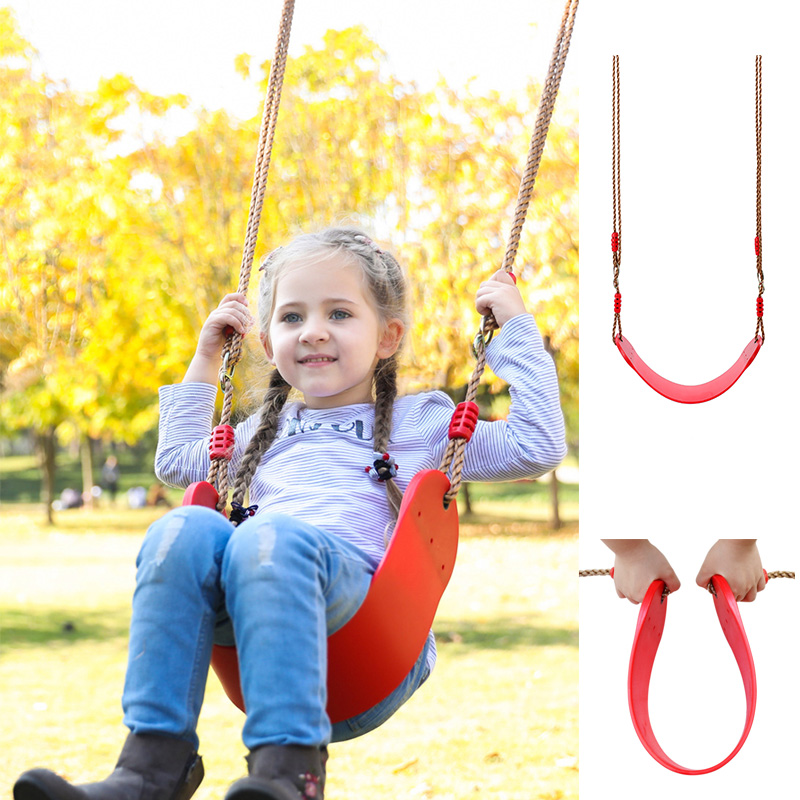 Portable Non-toxic Environmentally Eva Garden Swing Child Outdoor Hanging Chair Indoor Swing Kids Backyard Tree Swing Seat Toy