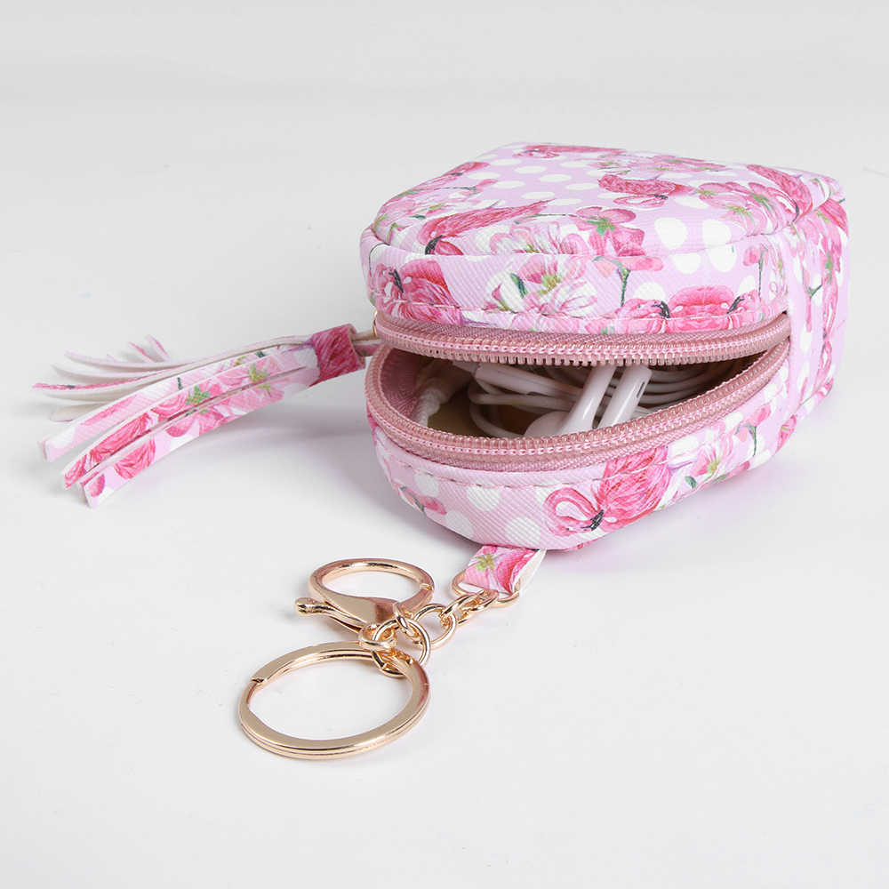 Nova Flamingo Bonito Saco de Chaveiro Em Forma de bolsa de Moedas Com Zíper Carteira Pequena Personalizado Keychain Bolsa Pingente Moda Jóias