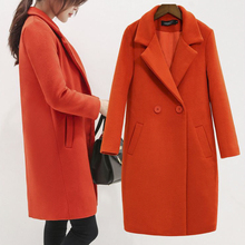 Winter autumn warm women long cashmere coat jackets woolen warm spring female jackets Overcoat cashmere coat jackets Plus Size