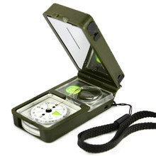Promotion!!! Multifunction 10 in 1 Outdoor Camping Hiking Survival Tool Compass Kit