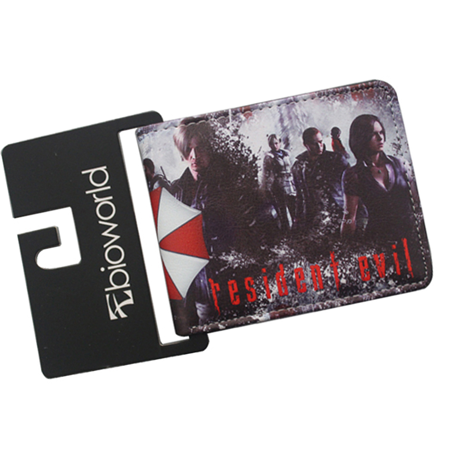 Free Shipping RESIDENT EVIL 6 Wallets Bifold UMBRELLA CORPORATION Purse Short Leather ID Card Holder Money Bag Wallets For Teens