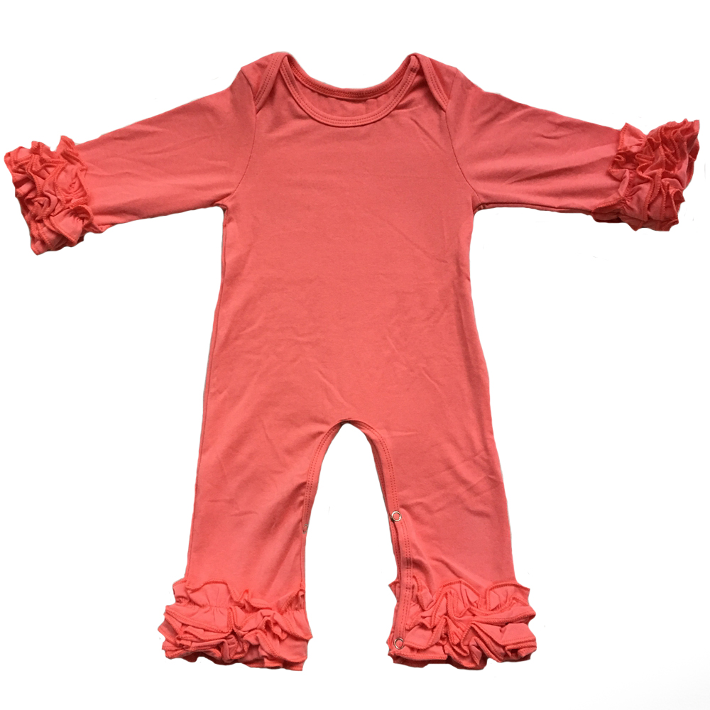 91995d2088b 2019 Fall Winter Wholesale Baby Icing Ruffle Leg Romper Mustard Plum ...