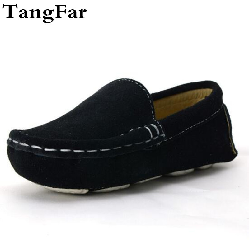 Free Shipping Childrens Moccasins Baby Genuine Leather Loafers Shoes Neutral Fashion Boys Low Suede Sewing Sport Shoe