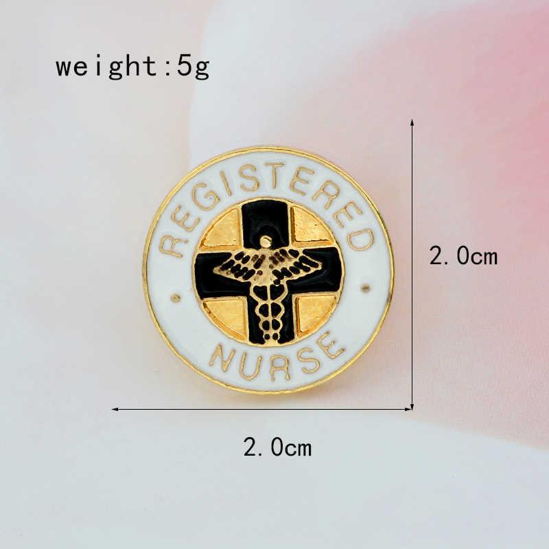 XEDZ Terdaftar Staf Perawat Perawat Lintas Lintas Bros Pin Logam Angel Wings Badge Kepribadian Dekorasi Medis
