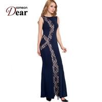 R80054 Special Design Elegant Long Dress Summer Style Women Dress O Neck Sleeveless Floor Length 2015