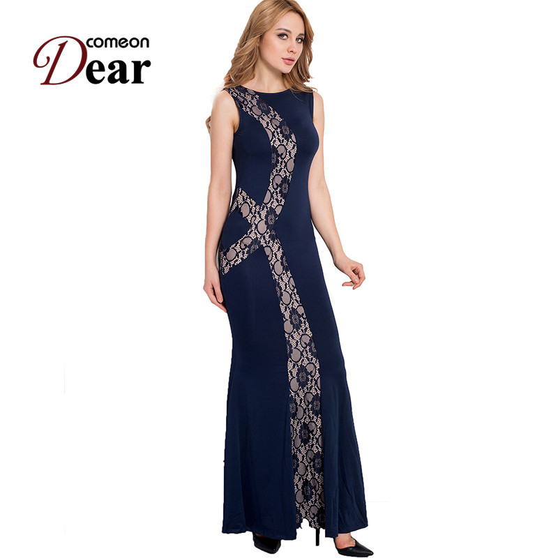 Buy Cheap RB80054 Special design elegant long dress summer style women dress o-neck sleeveless floor - length 2017 new maxi dress