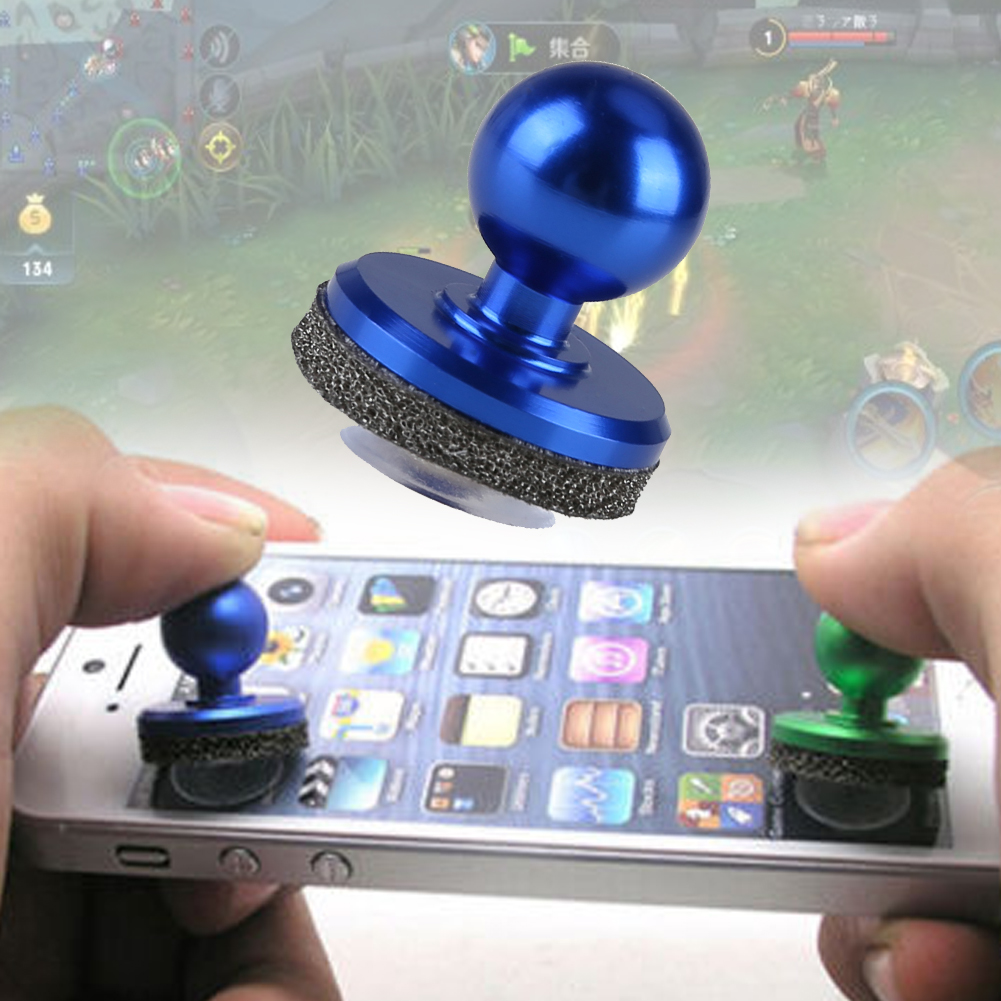 Mini Game Joystick Joypad Aluminum Alloy Blue Touch Screen Joysticks Phone Game Controller For Phone Tablet Gaming Player(China)