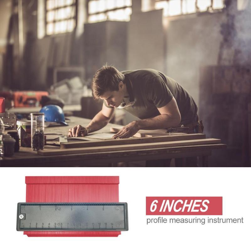 Image 4 - 5/6/10/20 Inch Plastic Profile Copy Gauge Contour Gauge Duplicator Standard Wood Marking Tool Tiling Laminate Tiles General Tool-in Gauges from Tools