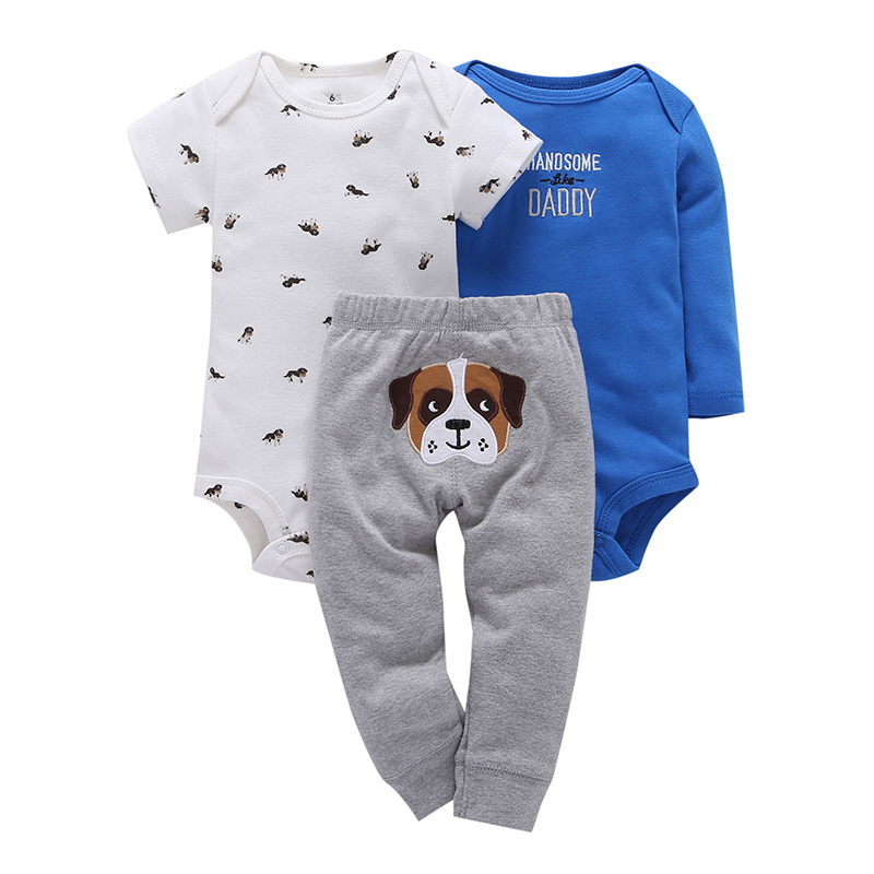 Children brand Body Suits 3PCS Infant Body Cute Cotton Fleece Clothing Baby Boy Girl Bodysuits 17 New Arrival free shipping 8