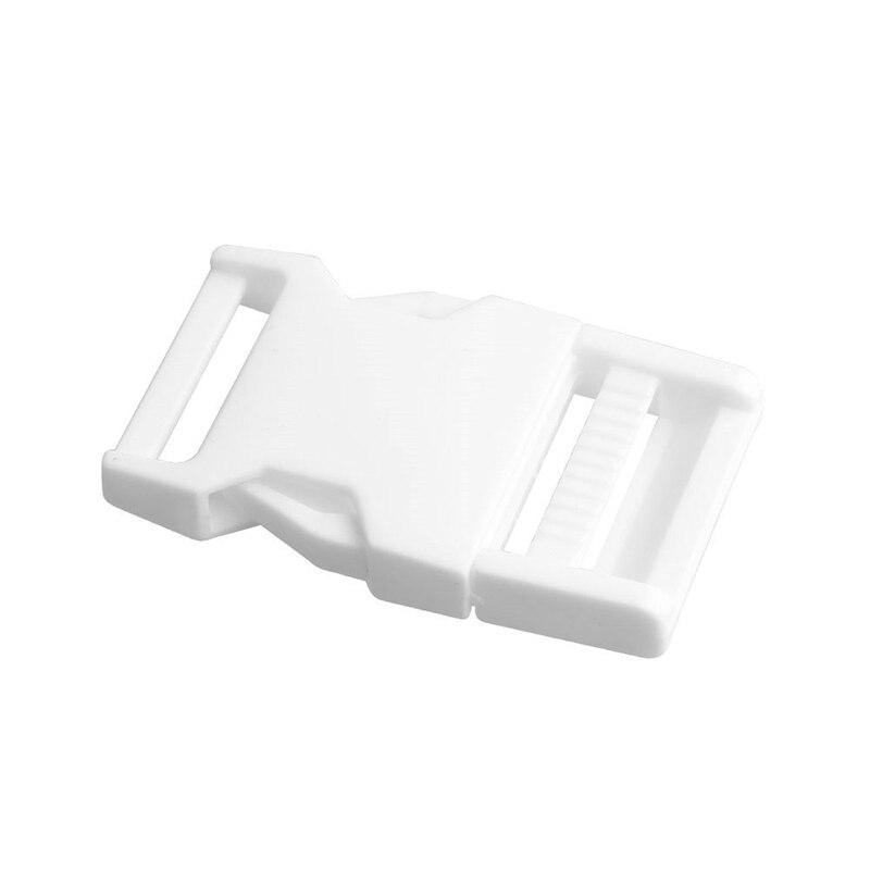 Лямки швейные инструменты собачьи ремни пряжки двойные регулируемые Крючки для рюкзака Высокое качество 1 шт. 25 мм популярная пластиковая пряжка безопасности - Цвет: Белый