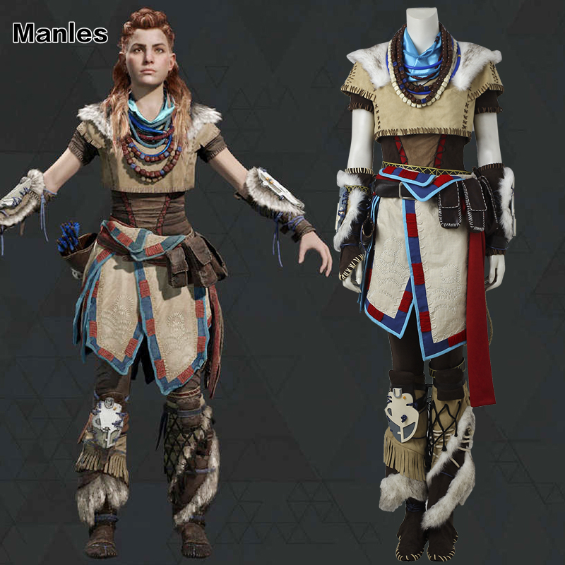Horizon Zero Dawn Aloy Costume Cosplay Halloween Clothes Handmade Suit Game Outfit Horizon Costume Adult Women Full Set Any Size