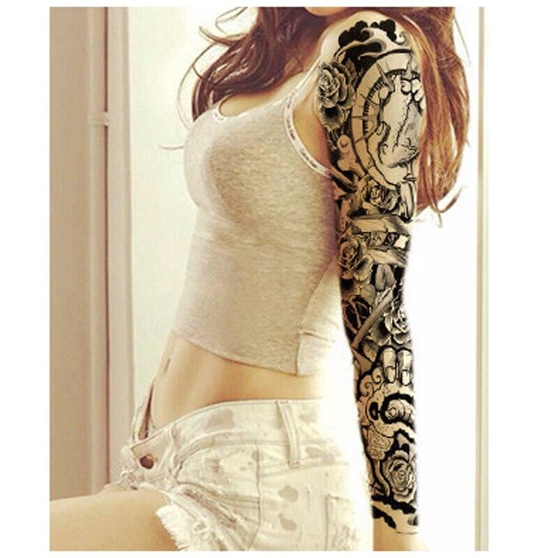 3pcs Cool Waterproof Fake Temporary Tattoo Sleeve Body Art 3d