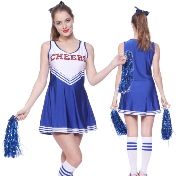 Women Cheerleader Costume High School Girl Sport Games -3219