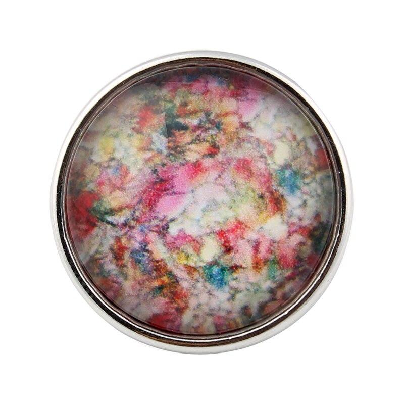 10pcs/lot Flower Snap Buttons Jewelrys 18mm Print Photo Glass Cabochon Fit DIY Bracelets&Bangles Jewelry ZB700H