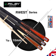 RILEY RWEST 3/4 Piece Snooker Cue Kit with Case Extension 10mm Deer Tip Billiard Snooker Stick High-end Excellent Handmade 2019 original riley slghtrlght rsr 9e snooker cue high end billiard cue kit stick with case with riley extension 9 5mm tip snooker