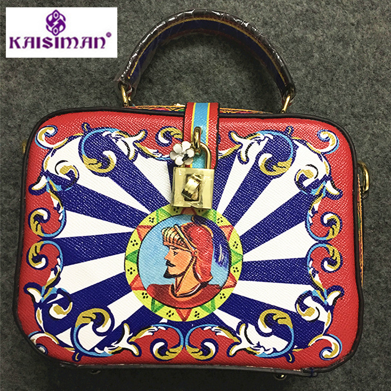Sicilian Classical Style Knight Print Crossbody Bags for Women, Genuine Leather Shoulder Bags, Lady Box Tote Bags, Sac A MainSicilian Classical Style Knight Print Crossbody Bags for Women, Genuine Leather Shoulder Bags, Lady Box Tote Bags, Sac A Main